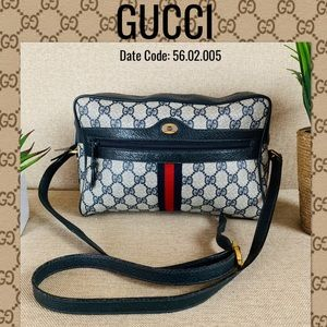 Gucci Crossbody Bag GG CANVAS PVC SHOULDER NAVY